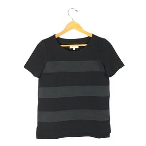 MADEWELL Black Striped Blouse Top   Size: XS